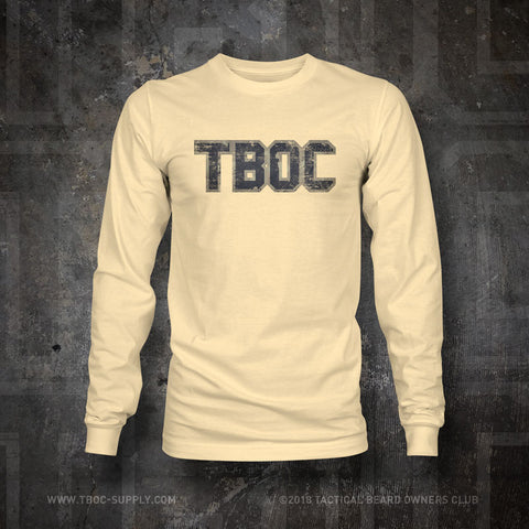 "TBOC Crew Long Sleeve ""TBOC"" Letters Full Color – Different Shirt Colors - TBOC Supply"