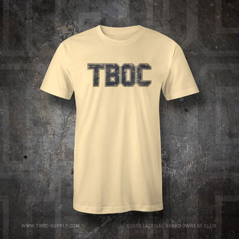 "TBOC Crew T-Shirt ""TBOC"" Letters Full Color – Different Shirt Colors - TBOC Supply"