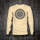 TBOC Crew Long Sleeve Logo Full Color – Different Shirt Colors - TBOC Supply