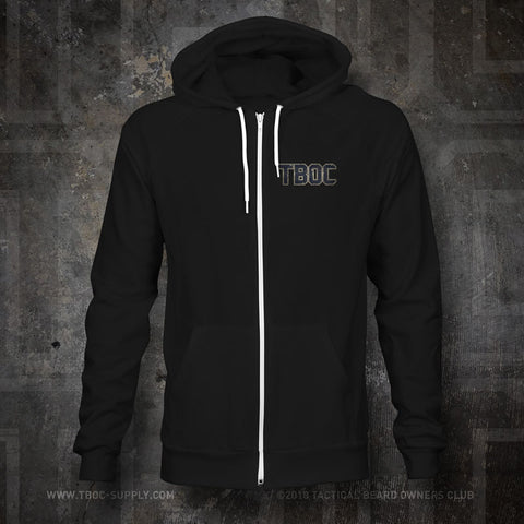 "TBOC Premium Hoodie ""TBOC"" Front Small Large Back Logo Full Color – Black - TBOC Supply"