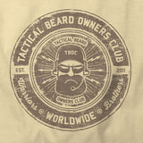TBOC Crew T-Shirt Logo Monochrome – Sand - TBOC Supply