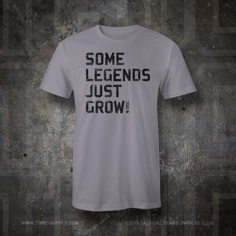 TBOC T-Shirt Legends with Back Logo Black – Slate - TBOC Supply