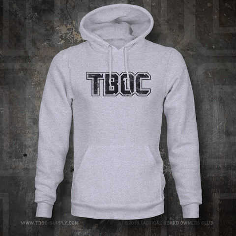 "TBOC Hooded Sweatshirt ""TBOC"" Letters Black – Sport Grey - TBOC Supply"
