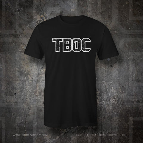 "TBOC T-Shirt ""TBOC"" Letters White – Black - TBOC Supply"