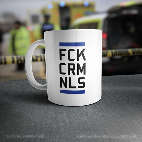 TBOC Coffee Mug Big FCKCRMNLS – Black/Blue/White - TBOC Supply
