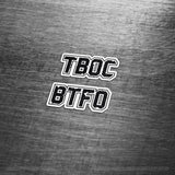 TBOC Premium Sticker – TBOC & BTFO Small - TBOC Supply