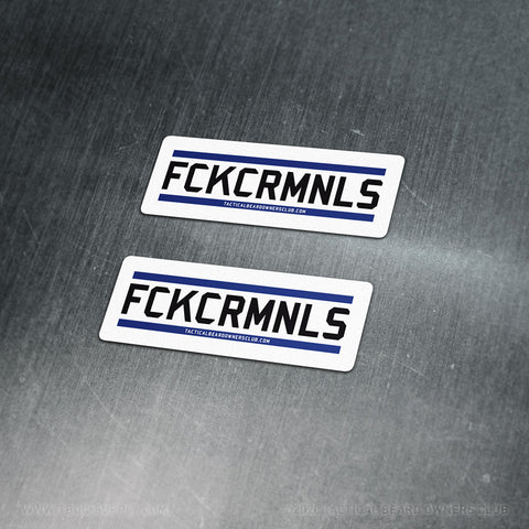 TBOC Premium Sticker – FCKCRMNLS Var2 Small x2 – Light - TBOC Supply