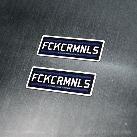 TBOC Premium Sticker – FCKCRMNLS Var2 Small x2 – Dark - TBOC Supply