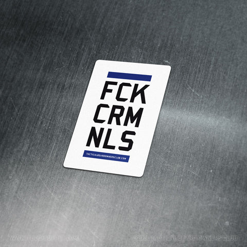 TBOC Premium Sticker – FCKCRMNLS Var1 Small – Light - TBOC Supply
