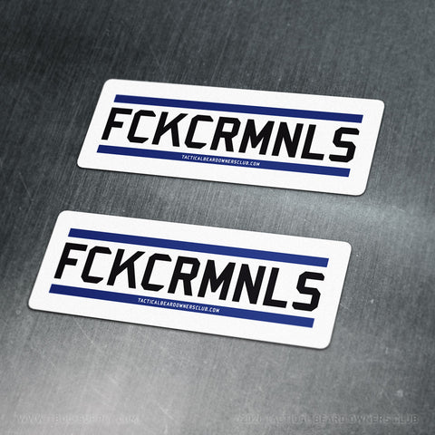 TBOC Premium Sticker – FCKCRMNLS Var2 Large x2 – Light - TBOC Supply