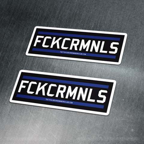 TBOC Premium Sticker – FCKCRMNLS Var2 Large x2 – Dark - TBOC Supply