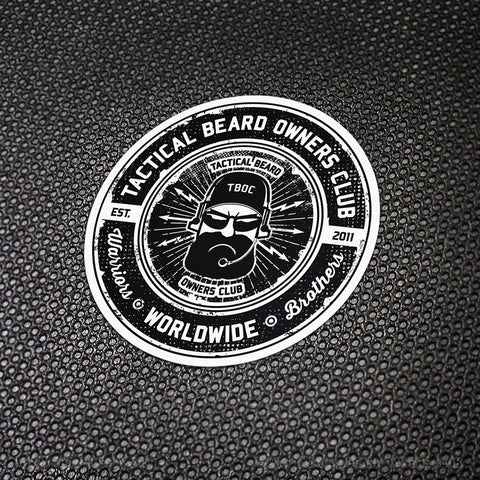 TBOC Premium Sticker – Logo Black/White - TBOC Supply