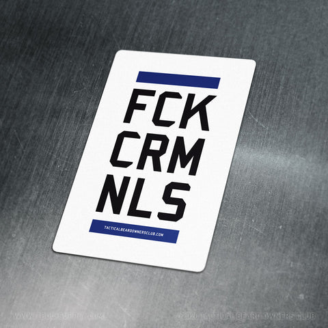 TBOC Premium Sticker – FCKCRMNLS Var1 Large – Light - TBOC Supply