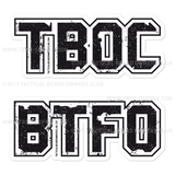 TBOC Premium Sticker – TBOC & BTFO Large - TBOC Supply