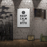 TBOC Premium Poster – Keep Calm And BTFO – Black/White – Print-only - TBOC Supply