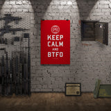 TBOC Premium Poster – Keep Calm And BTFO – White/Red – Print-only - TBOC Supply