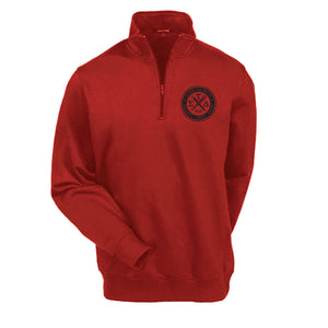 Red 1/4 Zip Sweatshirt