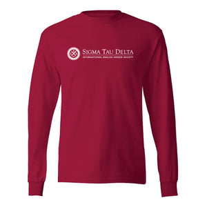 Red Long Sleeve Logo Shirt
