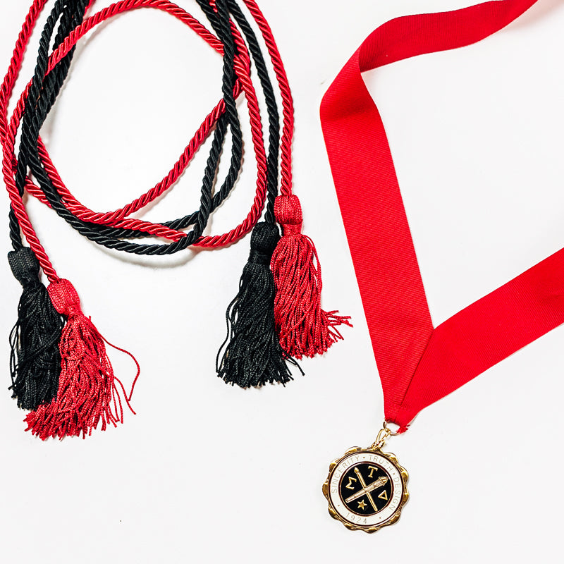 Red Medallion & Honor Cord Combination