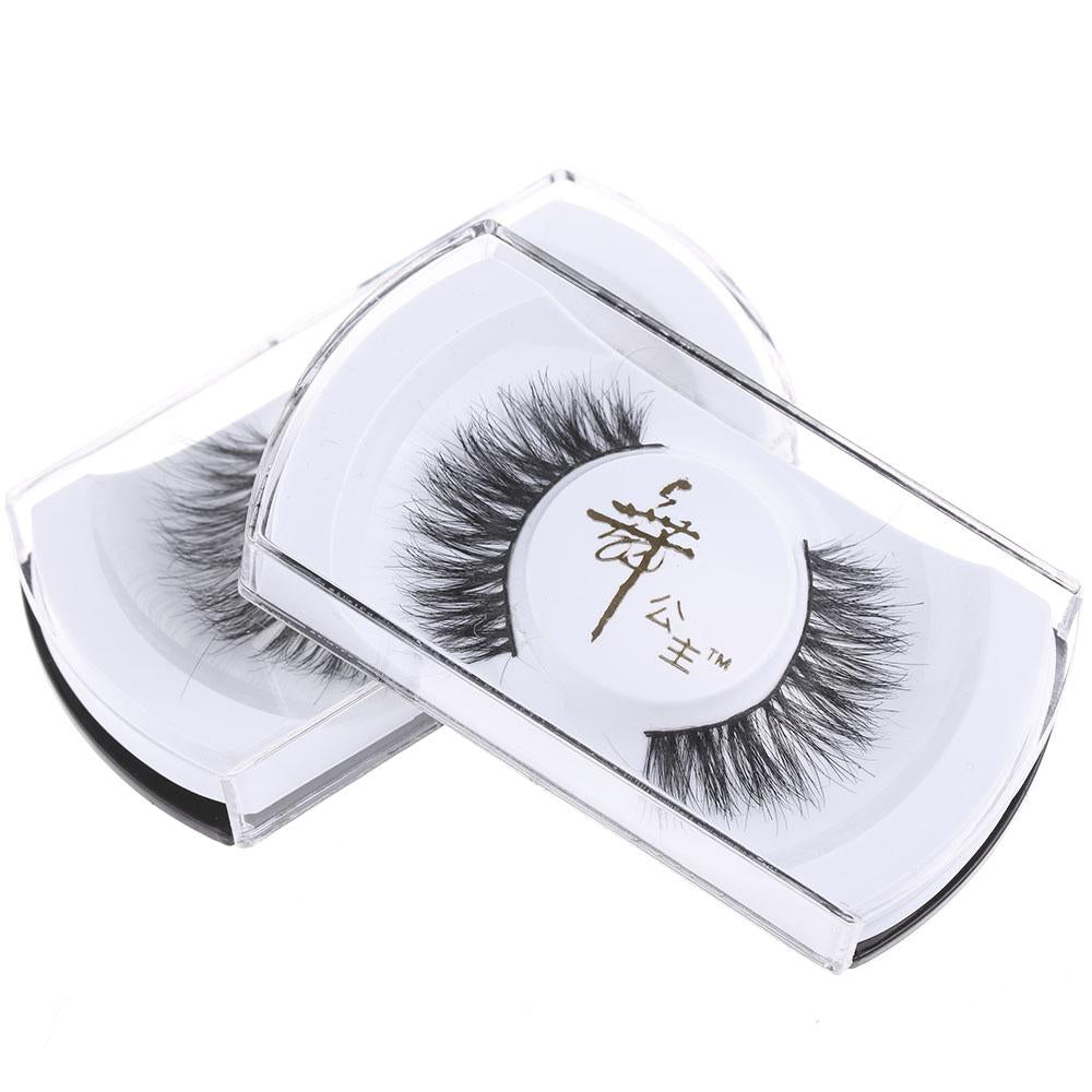 1 Pair Fashion Women Lady Handmade Horse Hair Natural Thick Long Fake Eye Lashes False Eyelashes Tools-teefury