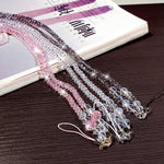 Universal 44cm Phone Strap Fashion Sling Lanyard Crystal Pearl Hanging Portable Mobile Phone Case Rope Card pack Rope For iPhone-teefury