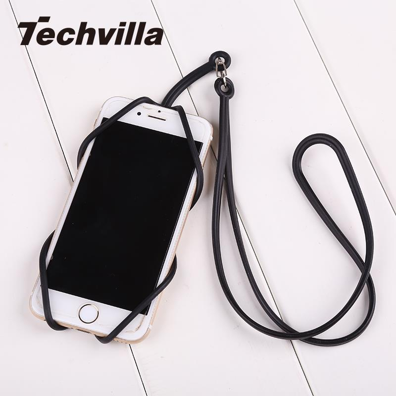 techvilla Silicone Lanyard Case Cover Holder Sling Necklace Straps For Cell Phone Convenient High Quality-teefury
