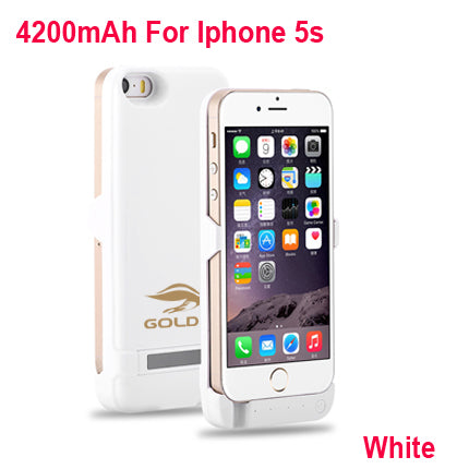 GOLDFOX External Rechargeable Battery Charger Case for iphone 5 5S 4200mAh Power Bank Battery Case Charging for iphone 5 5s SE-teefury