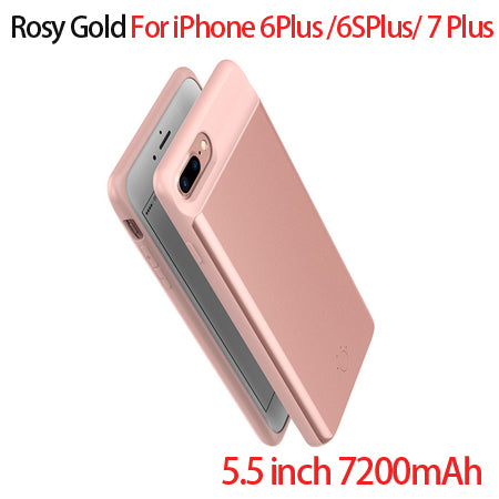 5000/7200mAh External Battery Charger Case For iPhone 6 6s Plus Power Bank Case Backup Charger Cover Case for Iphone 7 7 plus-teefury