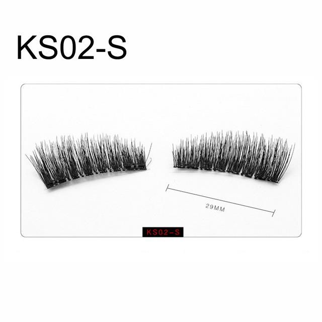 4Pcs/Set 3D False Eyelashes Handmade Cilios No Glue Fake Eye Lashes Thicker Cross Reusable Double Magnetic Eyelash Extension-teefury