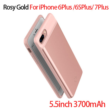 Goldfox Ultra Slim External Backup Battery Charger Case For iPhone 7 6 6s Plus PowerBank Charging Case Cover for iPhone 6 6s 7-teefury