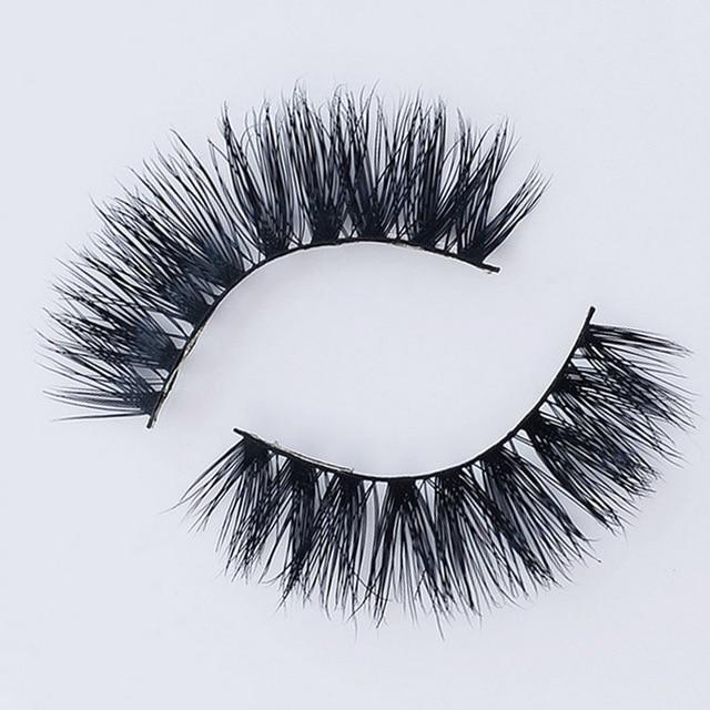 Eyelashes 3D Mink Eyelashes Crossing Mink Lashes Hand Made Full Strip Eye Lashes 34 Styles New Package cilios naturai SSwell-teefury