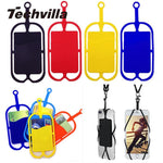 techvilla Universal Mobile Cell Phone Silicone Lanyards Neck Hand Strap Necklace Sling Card Holder Strap-teefury
