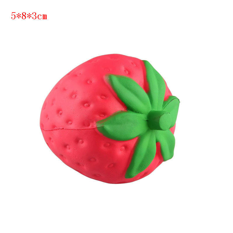 Squishy Strawberry cheap Slow Rising Squeeze Phone Strap Charm Pendant Squishes Simulation soft Scented Kid Toy Gift Collections-teefury