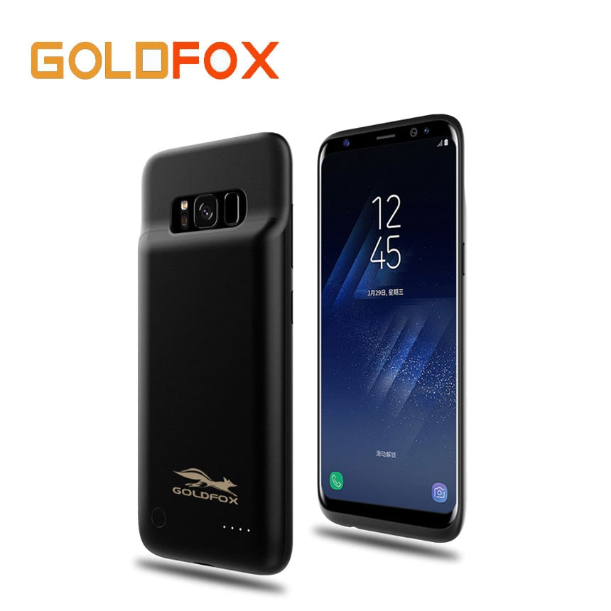 For Samsung galaxy S8 External Battery Charger Case Cover 4000mAH Rechargeable Power Bank Backup Phone Charging Case Dropship-teefury