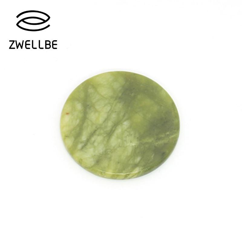 zwellbe 1pcs High Quality Round Jade Stone Eyelash Extension Glue Adhesive Pallet Stand Holder Fake Eye lash Makeup Tool-teefury