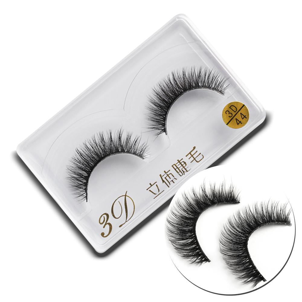 1Pair Handmade Soft Mink Hair Thick Black Full Stripe False Eyelashes Natural Long Eye Lashes Makeup Extension Tools wimpers-teefury