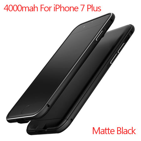Ultra Slim Rechargeable External Backup Battery Case For iPhone 6 6s Plus Power Bank Phone Charger Case Cover for iPhone 7 7plus-teefury