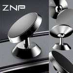 ZNP Luxury Magnetic Car Phone Holder For iPhone X 8 7 Universal GPS Magnet Air Vent Dash Board Car Stand For Samsung Holder-teefury