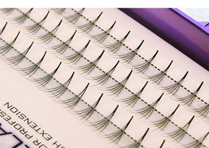 Grafting False Eyelashes Black Natural Long Professional Clusters Eyelash Extensions 5D Individual Volume Pro Made Fans-teefury