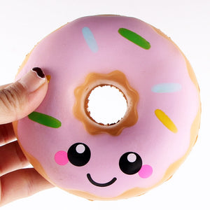 Jumbo Squishy Kawaii Colored Donuts Soft Slow Rising Pendant Phone Straps Stretchy Squeeze Kid Toys New Year Christmas Gifts-teefury