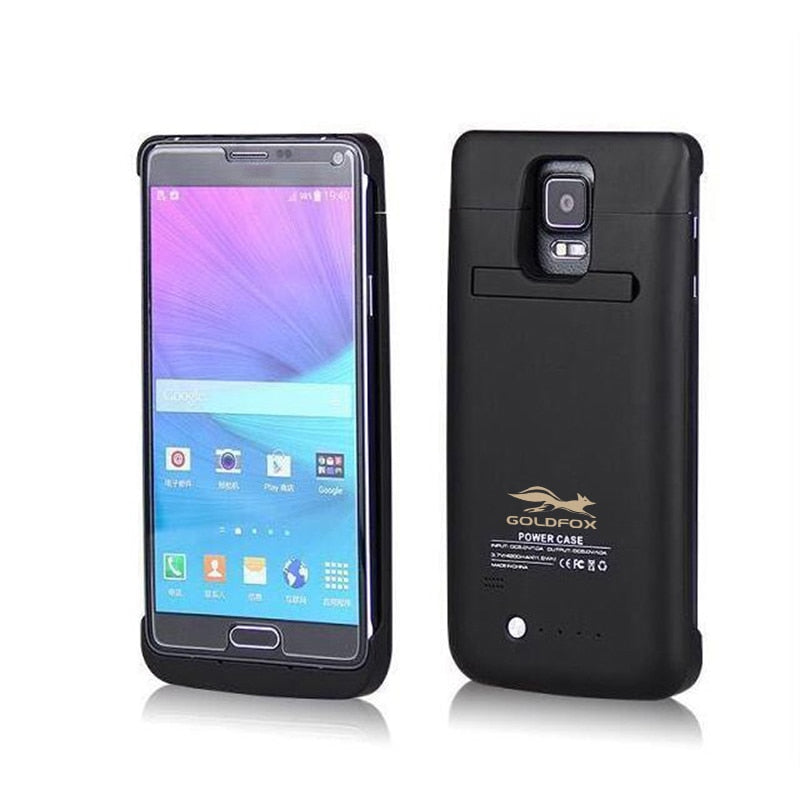 For Galaxy note4 Phone 4800mah Charging Emergency Power Bank Case for Samsung Galaxy Note 4 N9100 Battery Charger Case Cover-teefury