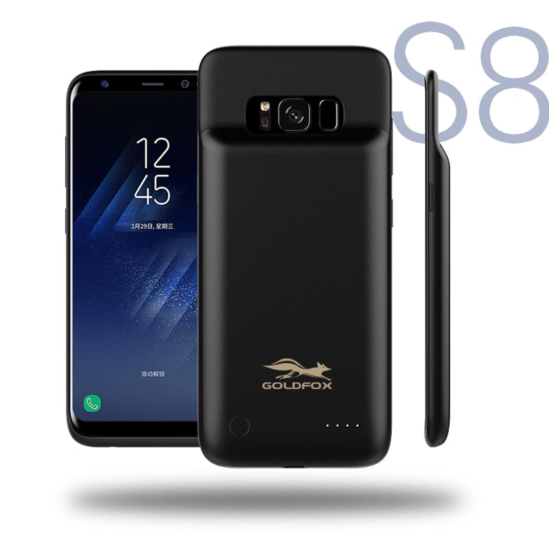 Ultrathin Phone Case Power Bank Backup External Battery Powerbank Battery Charger Case Cover For Samsung Galaxy S8 Battery Case-teefury