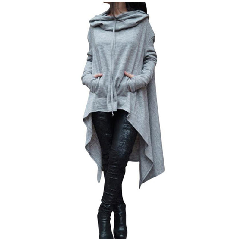 New Irregular Hoodies Tracksuit For Women Pullovers Hoody Sweatshirts Warm Women's Sweatshirt Autumn Winter Coat-teefury