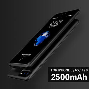 Battery Case For iphone 6 6s 7 8 2500/3700/5000/7200mah Power Bank Charing Case For iphone 6 6s 7 8 Plus Battery Charger Case-teefury