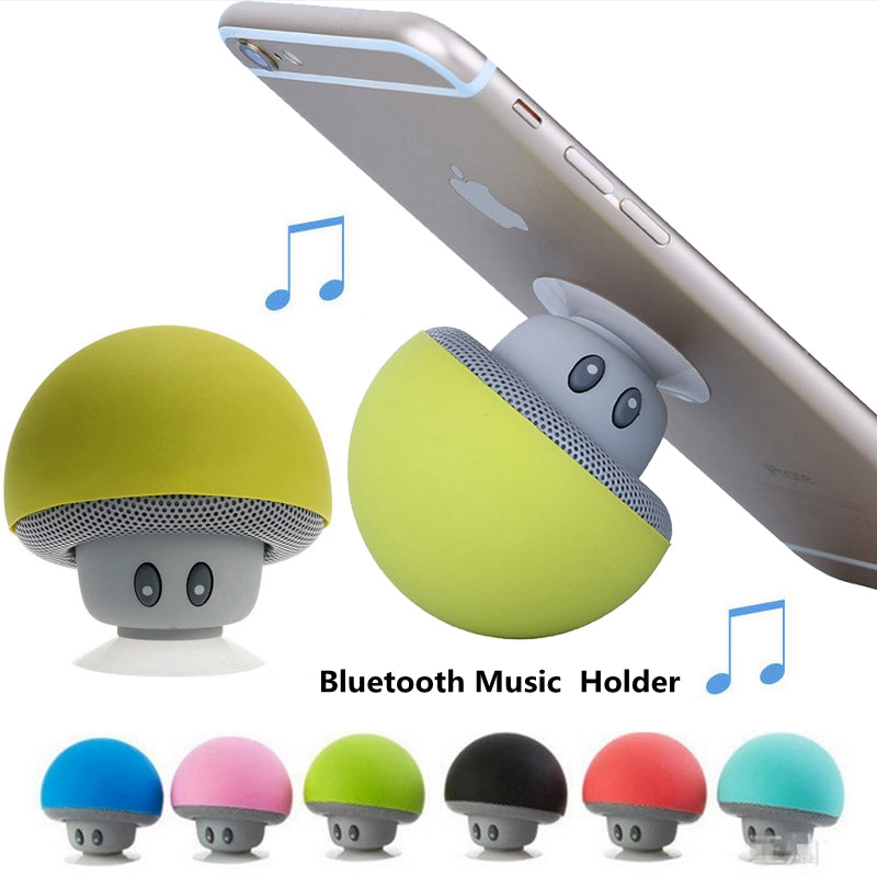 Soporte Speaker Mp3 Player Bluetooth Musical Pop Phone Holder Mini Mushroom Stand for Xiaomi iPhone Samsung Socket Support-teefury