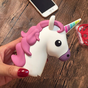 Ultrathin Portable Emoji Power Bank Battery case 2000mAh Charger Unicorn Cartoon USB For Iphone 5S 6 6S 7 7plus Xiaomi Samsung-teefury