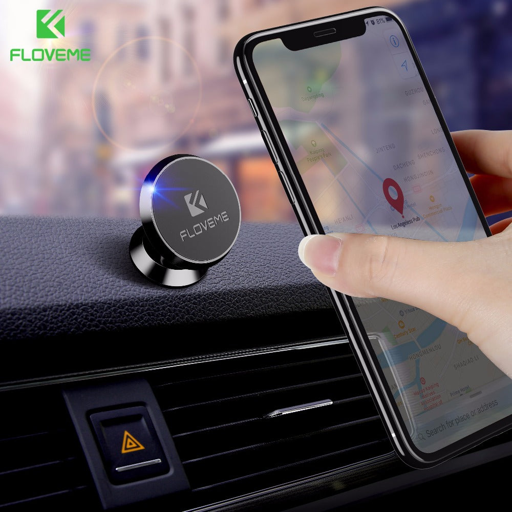 FLOVEME Strong Magnetic Car Phone Holder For iPhone Samsung Huawei Xiaomi Support Magnet Car GPS Navigator Bracket Stand Holders-teefury
