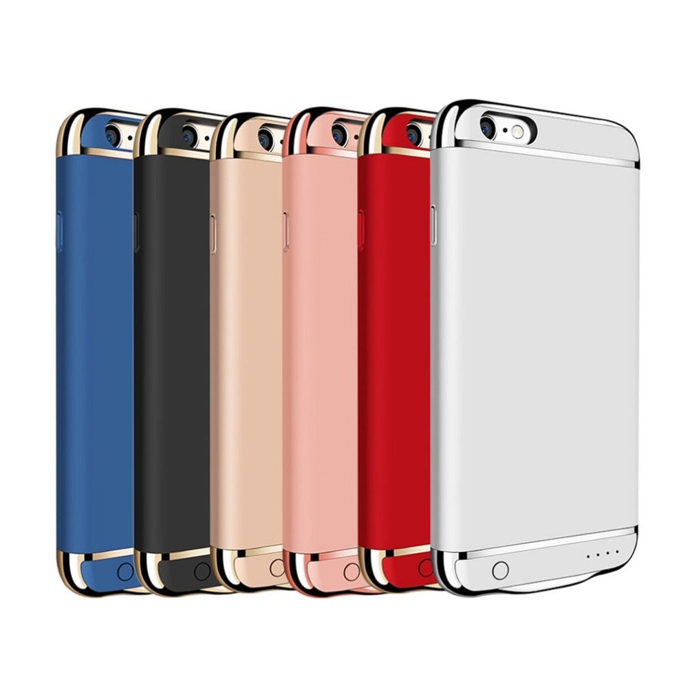 Portable Traveling backup power bank case External Battery Charger Back Clip Case Cover power supply For iPhone 7 6 6S Plus-teefury