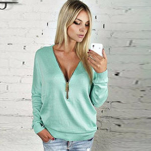 SummerFashion Sweatshirts Women Spring Europe Casual Solid Women's Sweatshirts Slim Zipper Short Pullover Female-teefury