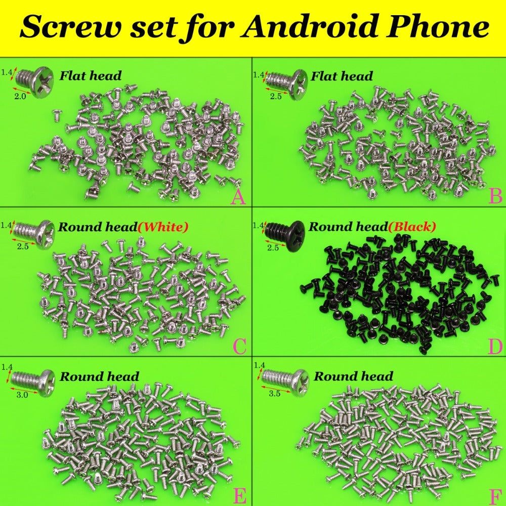 YuXi New M1.4 Cell Phone Screws Set for Android Phone-teefury